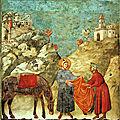 Des reproductions des fresques de giotto à assise à l'église saint géry par jean-paul plichon