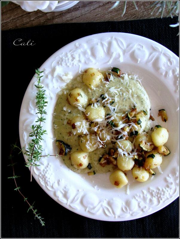 Gnocchi Di Patate à la Crème de Courgette & Chèvre Frais 002