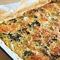 Quiche au chou kale et au fenouil