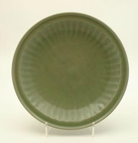 A large Longquan celadon saucer dish, Ming Dynasty