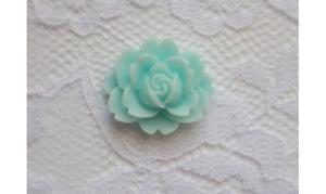 rose bleu résine