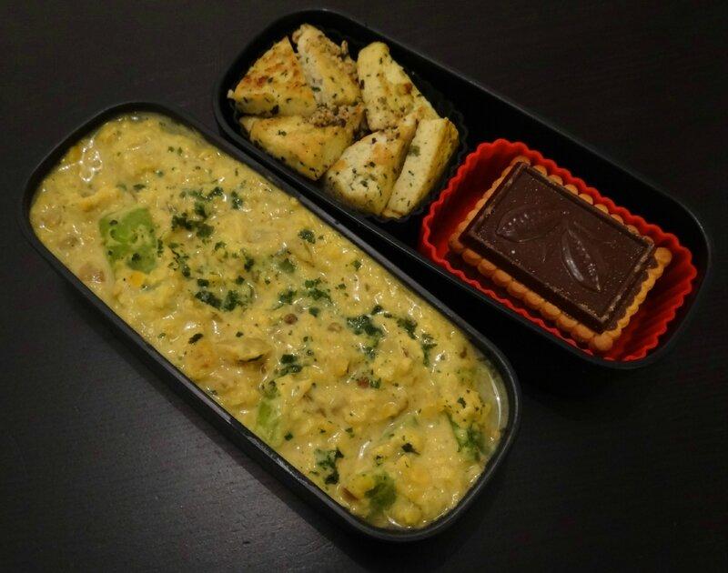 Dahl de lentilles corail, et tofu poelé