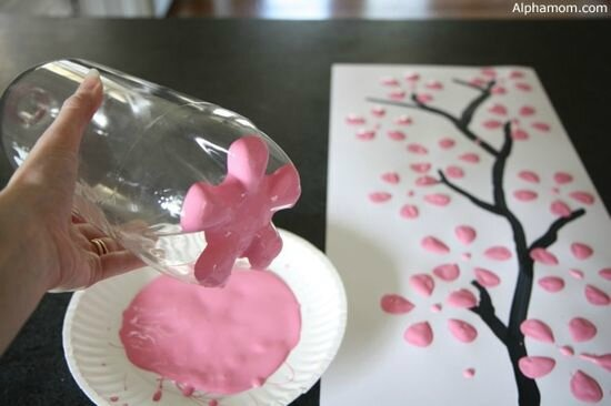 DIY-cherry-blossom-art-from-a
