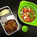 Steak de légumes et salade fraiche