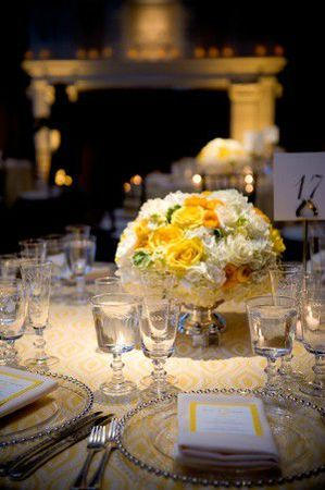 Elegant-Yellow-White-Rose-Centerpiece-300x451