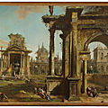Giovanni antonio canal, called canaletto (venice 1697-1768), architectural capriccio with classical ruins