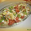 Salade de fenouil et pamplemousses