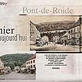 Rubrique ''d'hier à aujourd'hui'' dans le mag er : pont-de-roide (25)
