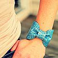 Bracelet nœud à partir d'un sac à main
