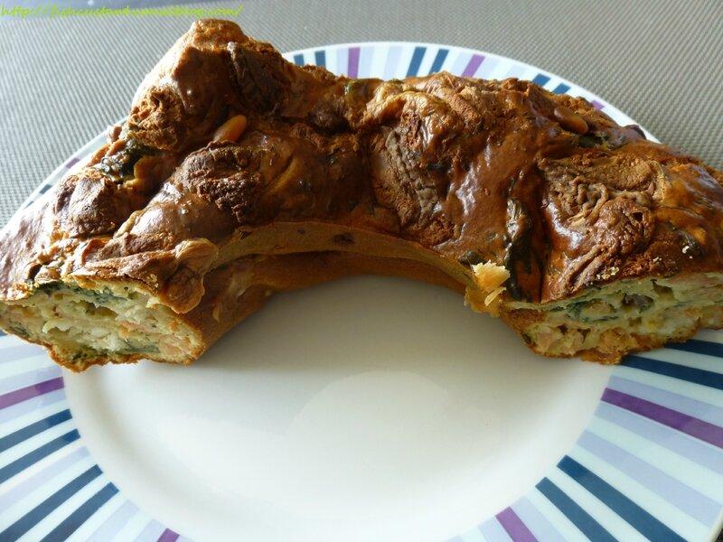 Cake salé moelleux saumon-blettes-chèvre (20)