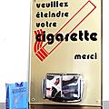 Déco vintage ... plaque cendrier * veuillez éteindre votre cigarette