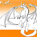 Un dragon à l'orange... par gabriel (12 ans)
