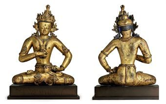 a_large_and_important_gilt_copper_figure_of_vajrasattva_tibet_or_nepal_d5347332h