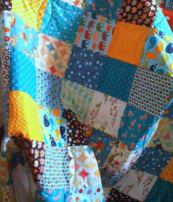 pour r aliser un joli plaid patchwork le tuto la petite cabane de mavada. Black Bedroom Furniture Sets. Home Design Ideas
