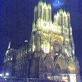 Reims Cathédrale by night
