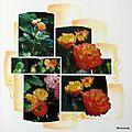 Roses jaune-orange