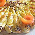 Tarte soleil sucrée abricot-pistache
