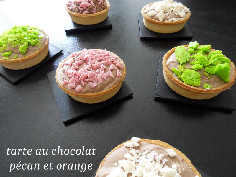 tarte au chocolat pécan et orange1