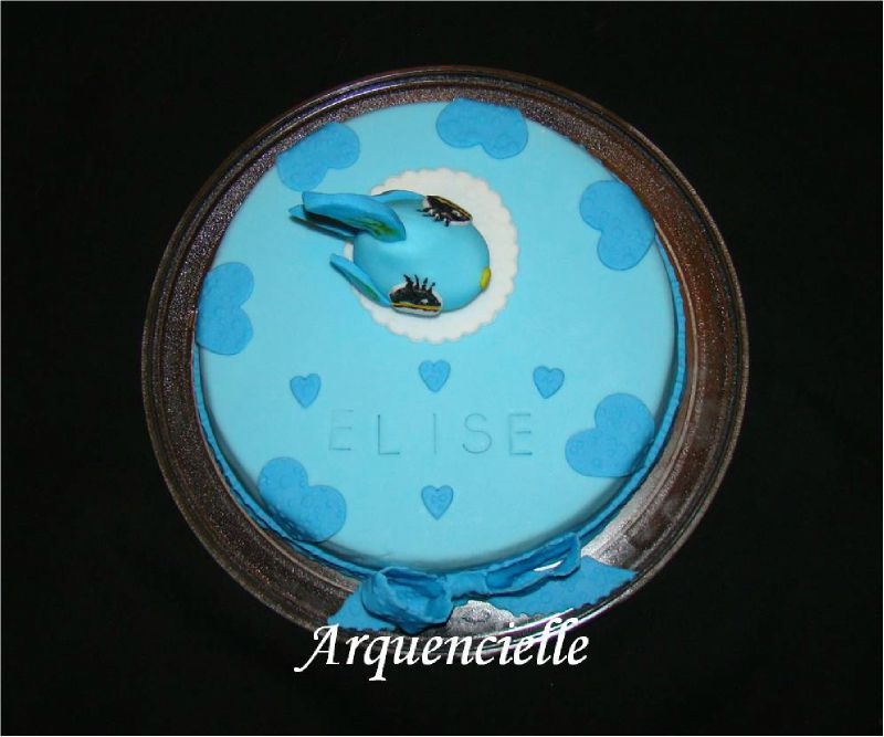Gâteau Pet shop poisson vue dessus
