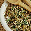 Un plat hyper rapide : spaghetti quinoa-sarrasin & edamame