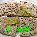 Paratha stuffed with potato-leek bajji
