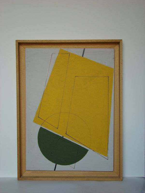 Coquille de noix acrylique sur bois 40 x 60 cm