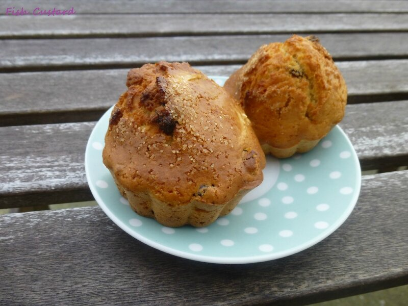 Muffins rhum raisin (6)
