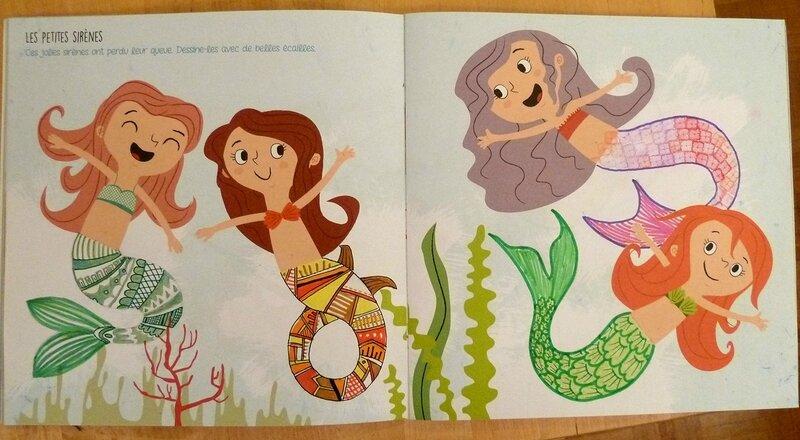 imagine dessine et colorie la mer et ses pirates - les petites sirènes 02