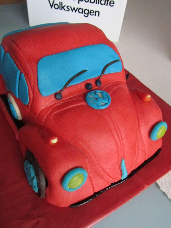 gateau voiture coccinelle  vw beetle vw car cake du bruit dans la map