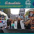 A paris, des manifestants s'opposent à la venue du «criminel de guerre» benjamin netanyahou