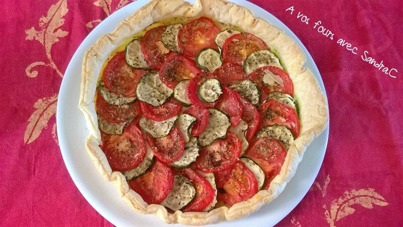 Tarte tomates courgette