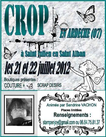 affiche CROP ARDECHE