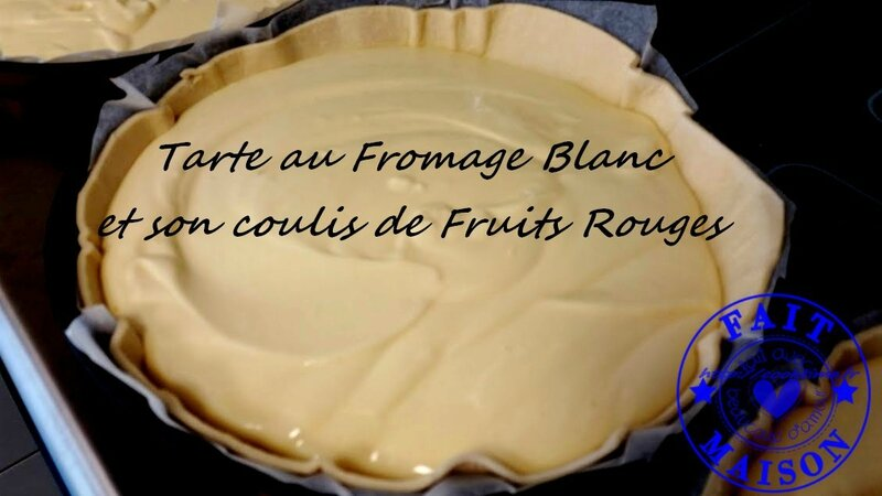 Tarte au fromage blanc et son coulis de fruits rouges 3