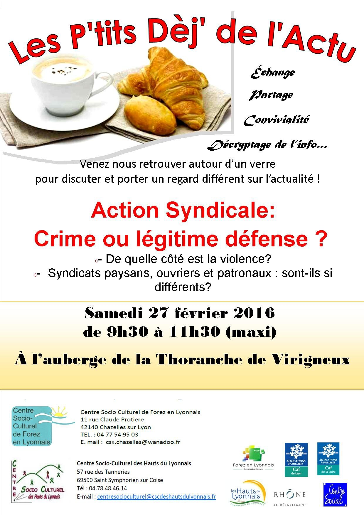 P'tit Déj Action syndicale