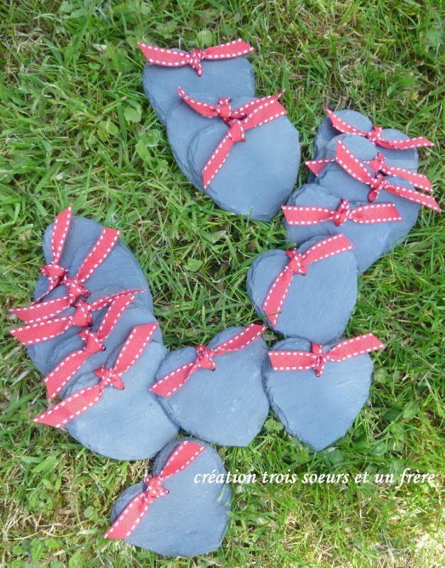 marque-place coeur ruban