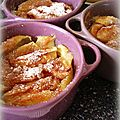 Petits clafoutis pommes cannelle calvados