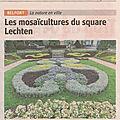 Article er : mosaïculture square lechten