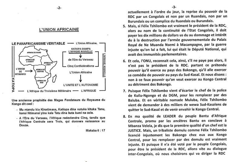 OU FELIX TSHILOMBO EST LE PRESIDENT DE LA RDC OU PAS b