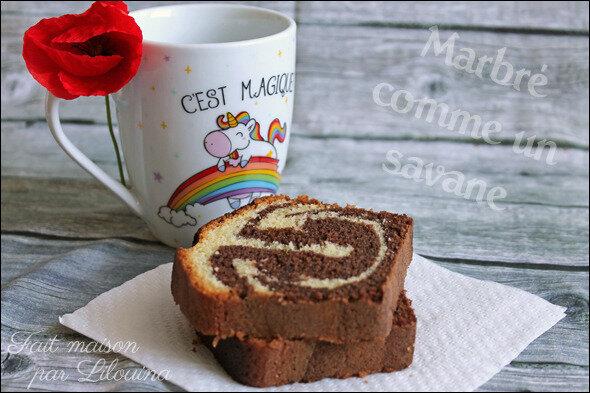 Marbré chocolat vanille façon Savane...