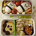 Bento #005: la famille panda