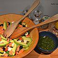 Sauce salade au thé matcha