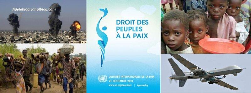 Les Images qui entourent la Journée Internationale de la Paix. *Mix fideleblog