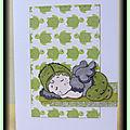 Carte naissance garçon (vert)