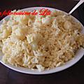 Choux fleur et riz au curry