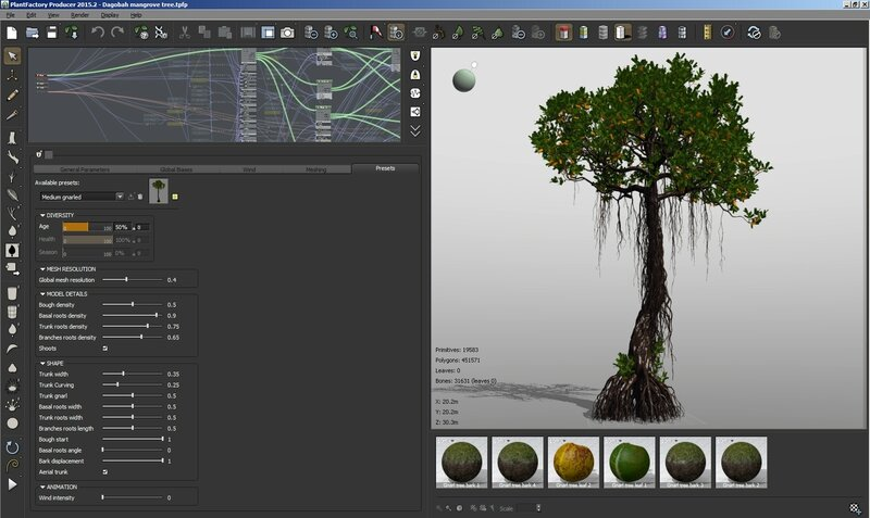 09 Dagobah mangrove tree rhyzophora 3D Star Wars C4D max obj 3ds screenshot