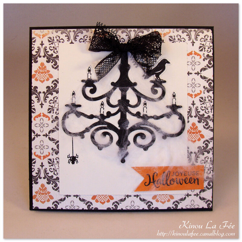 Carte Halloween Chandelier 1