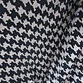 Robe Raymonde en coton imprimé pied de poule marine - Taille M-L (6)