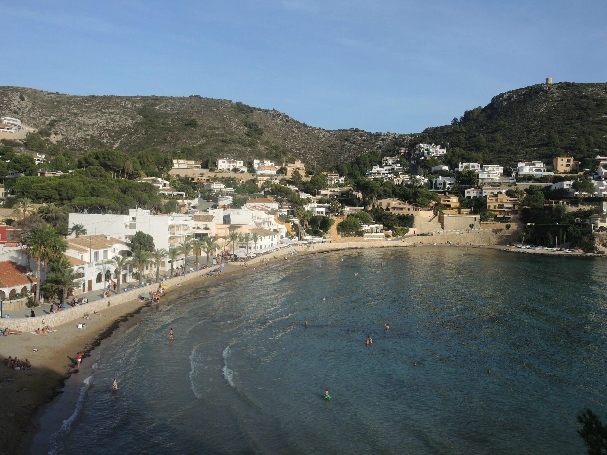 Moraira, plage d'El Portet et le cap d'Or (Espagne)