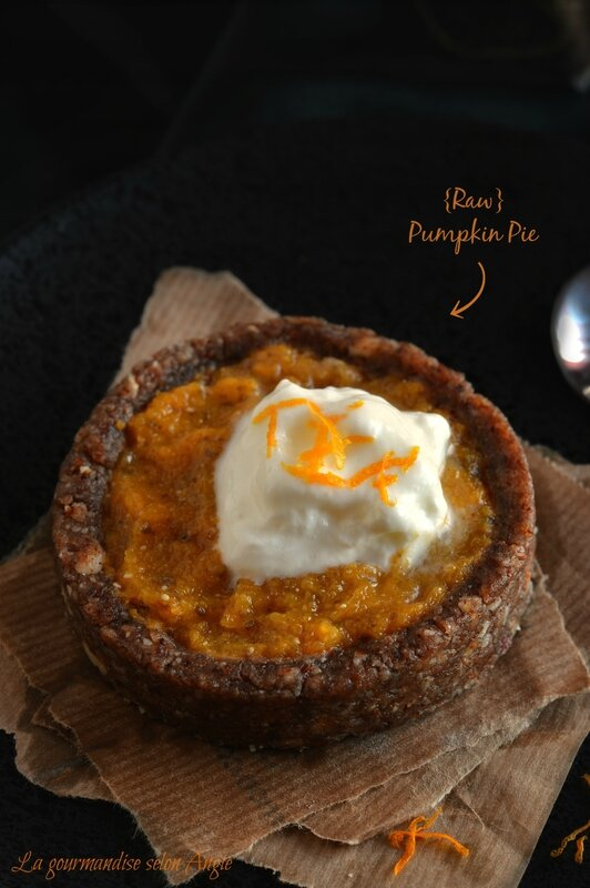 recette de courge - raw pumpkin pie tartelette crue butternut végétale 1