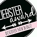 Nomination au liebster award...